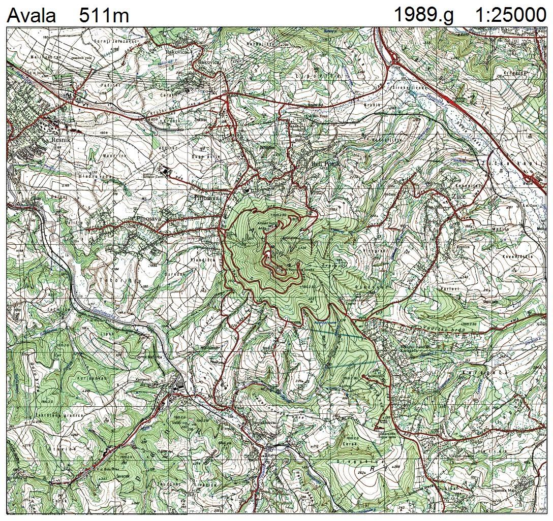 mapa beograda avala O Avali   AVALA INFO mapa beograda avala